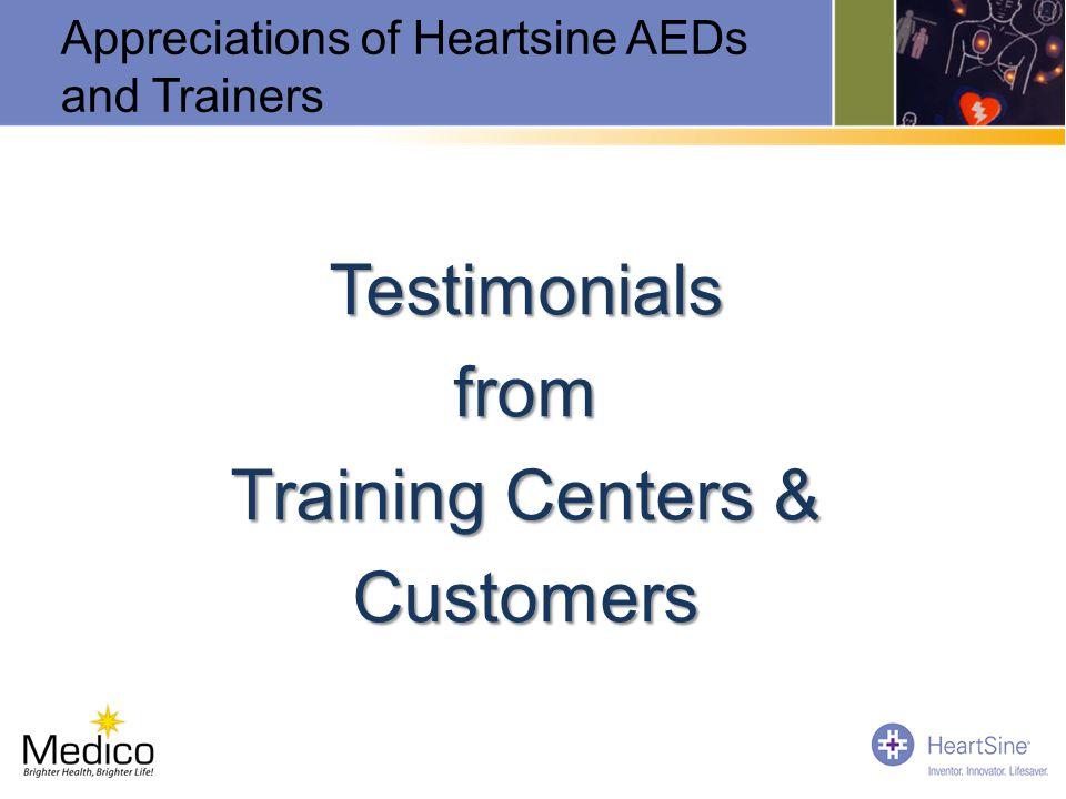 Testimonials from Training Centers & Customers