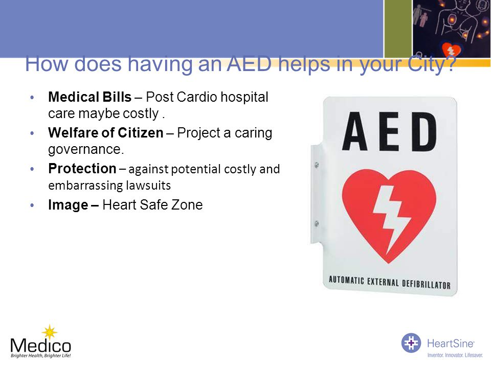 How does having an AED helps in your City
