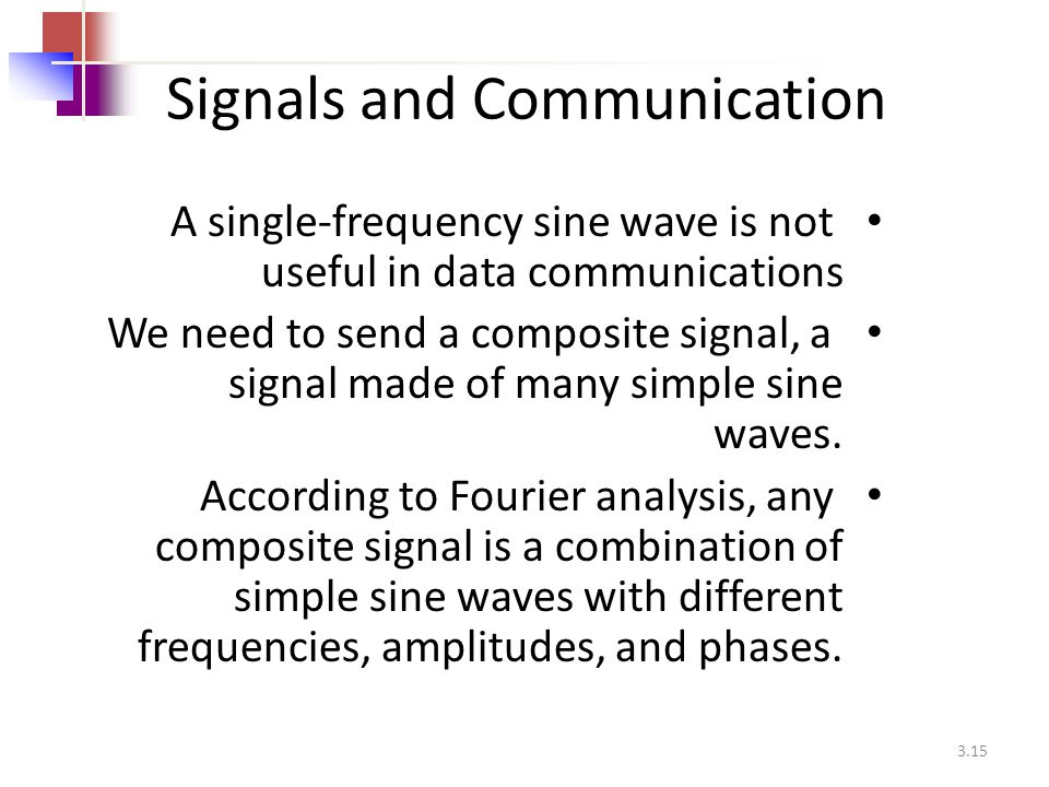 Signals and Communication