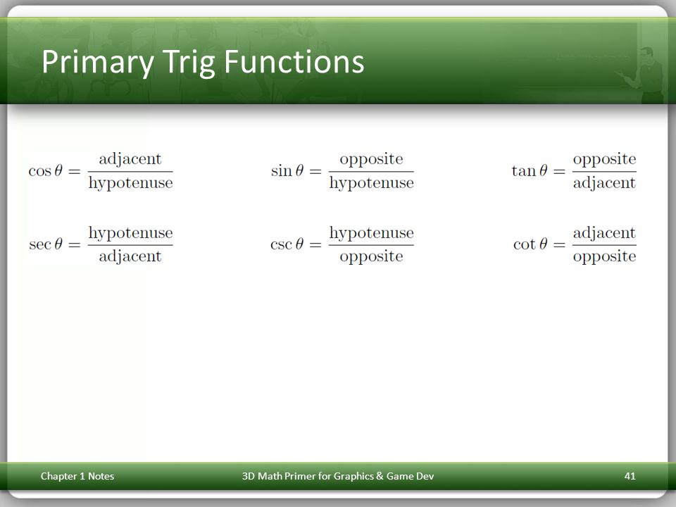 Primary Trig Functions