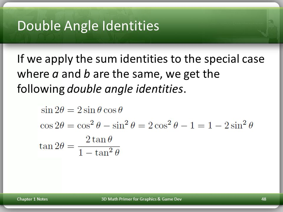 Double Angle Identities