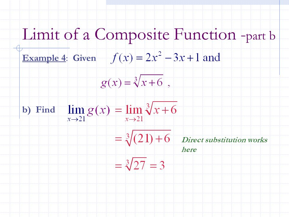 Limit of a Composite Function -part b