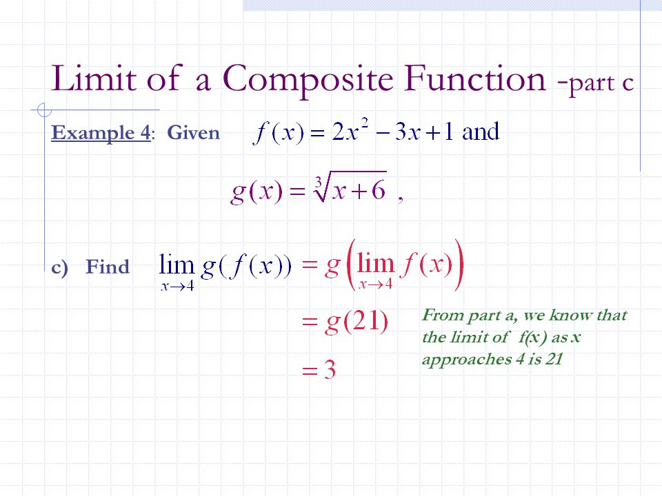 Limit of a Composite Function -part c