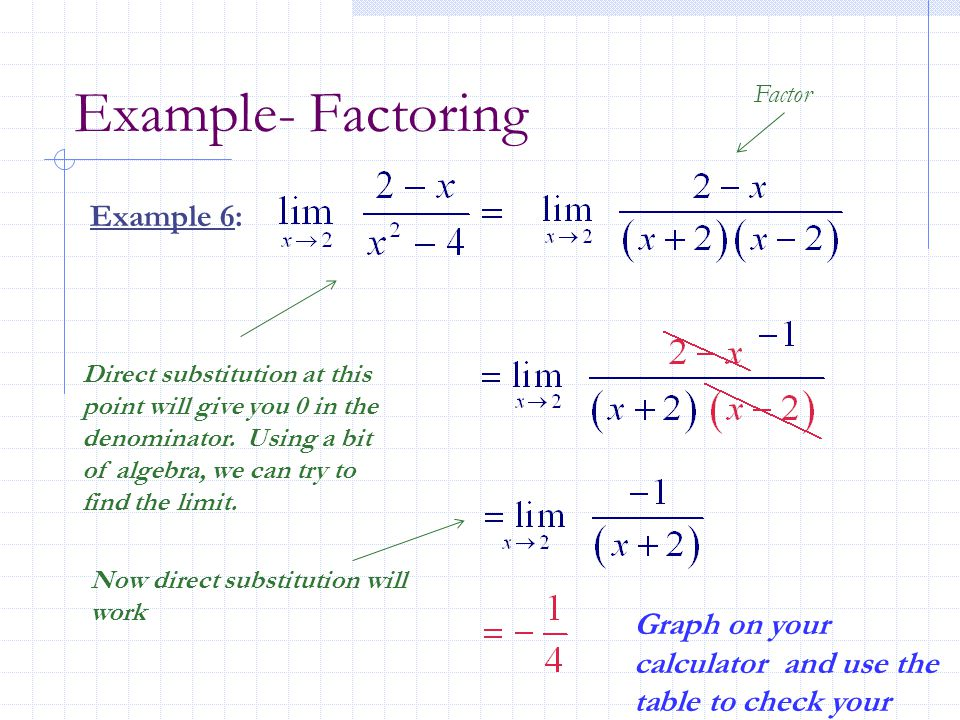 Example- Factoring Example 6: