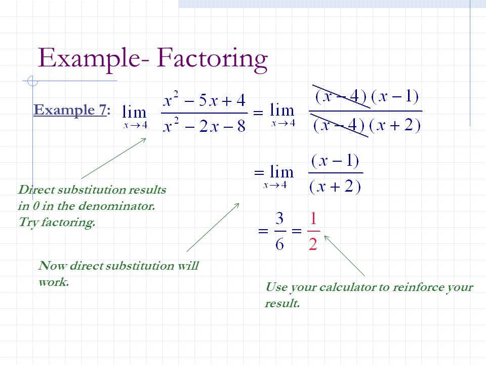 Example- Factoring Example 7:
