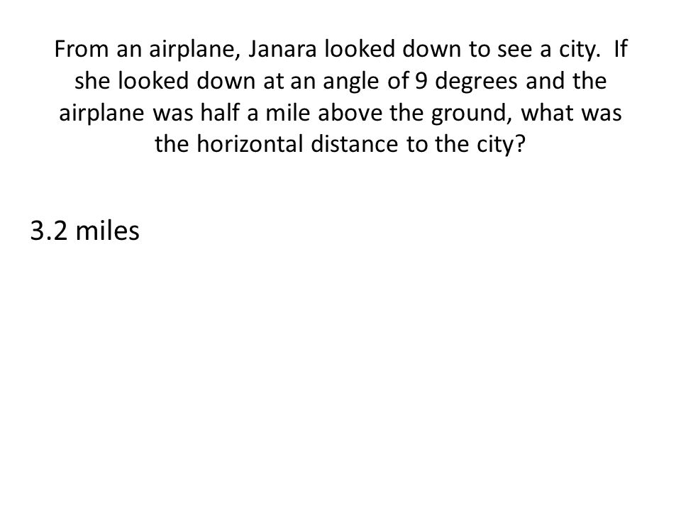 From an airplane, Janara looked down to see a city
