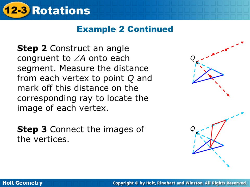 Step 3 Connect the images of the vertices.