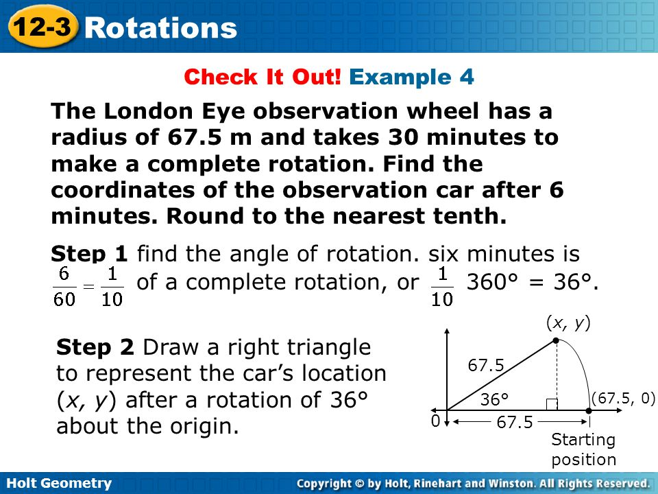 Step 1 find the angle of rotation. six minutes is