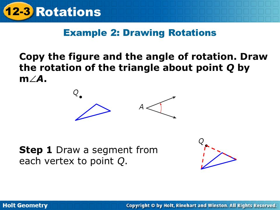 Example 2: Drawing Rotations