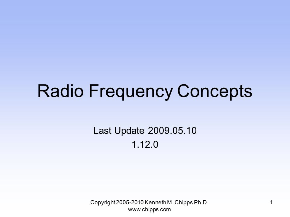Radio Frequency Concepts