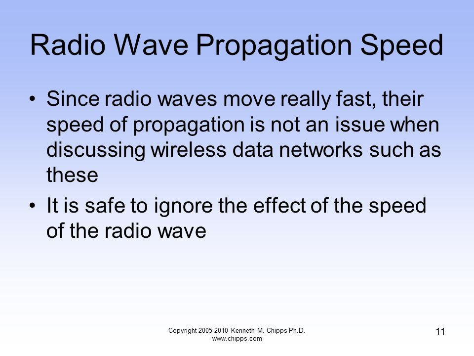 Radio Wave Propagation Speed