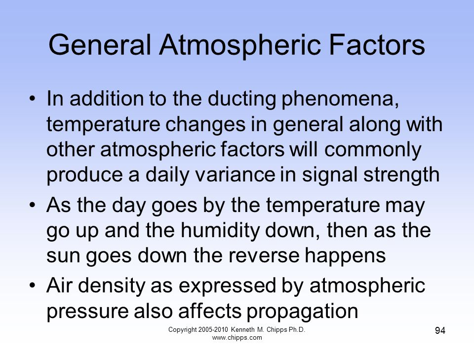 General Atmospheric Factors