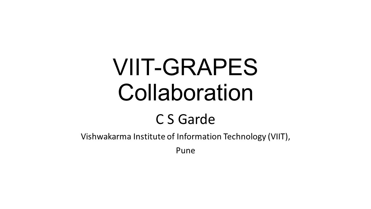 VIIT-GRAPES Collaboration