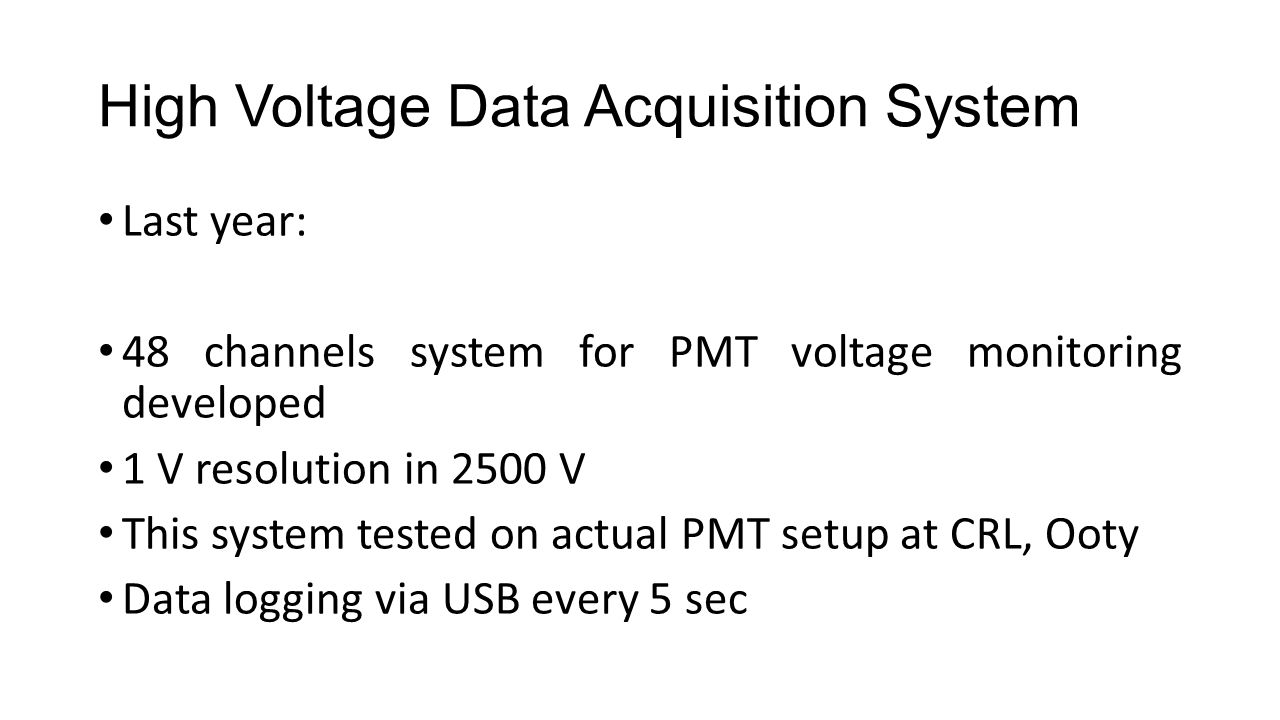 High Voltage Data Acquisition System