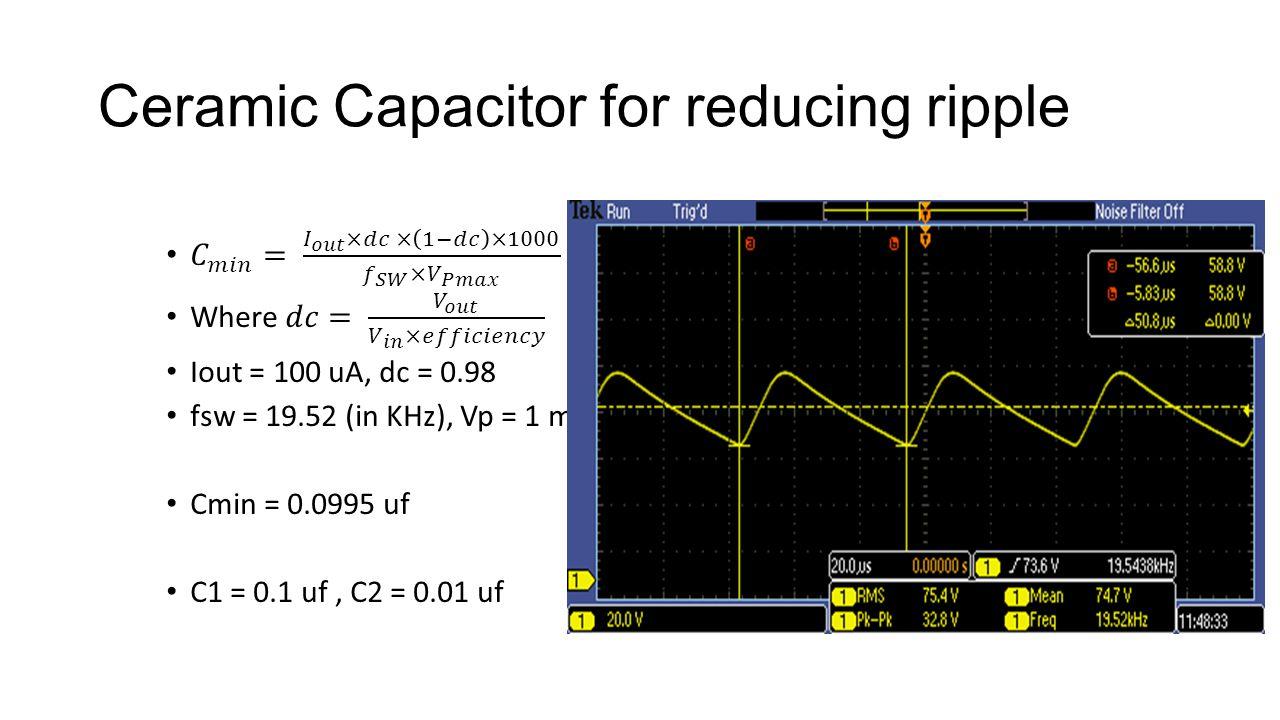 Ceramic Capacitor for reducing ripple