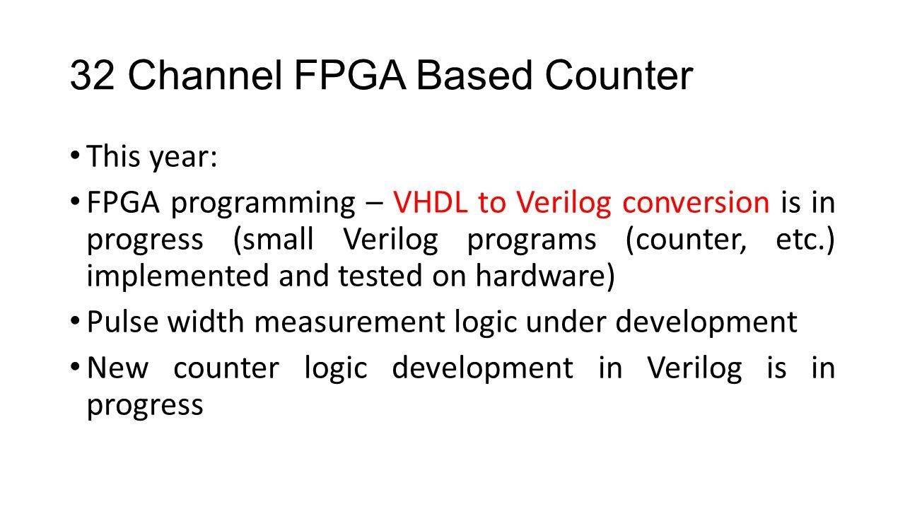 32 Channel FPGA Based Counter