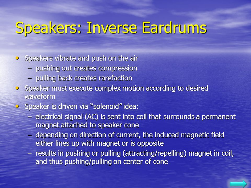 Speakers: Inverse Eardrums