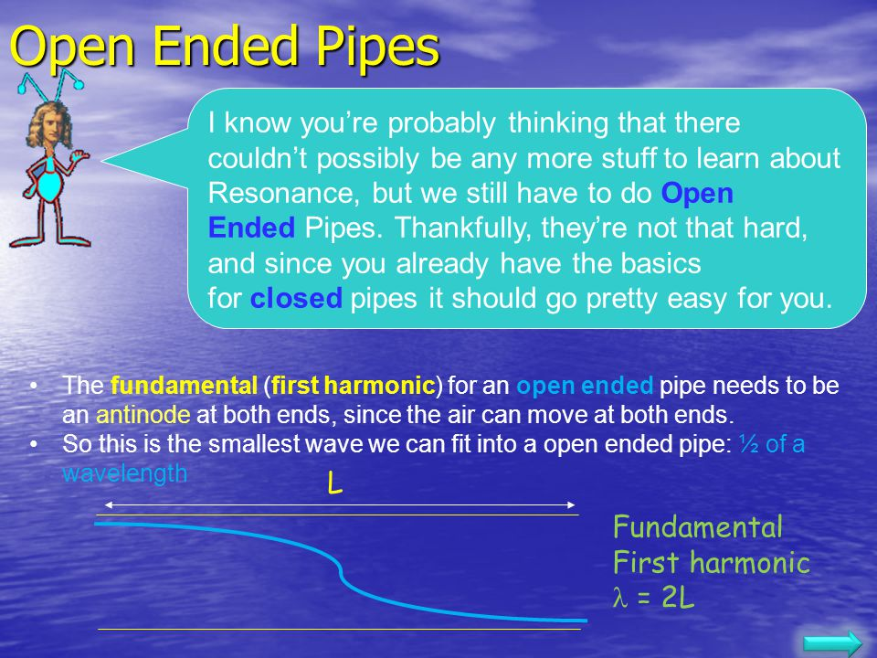 Open Ended Pipes