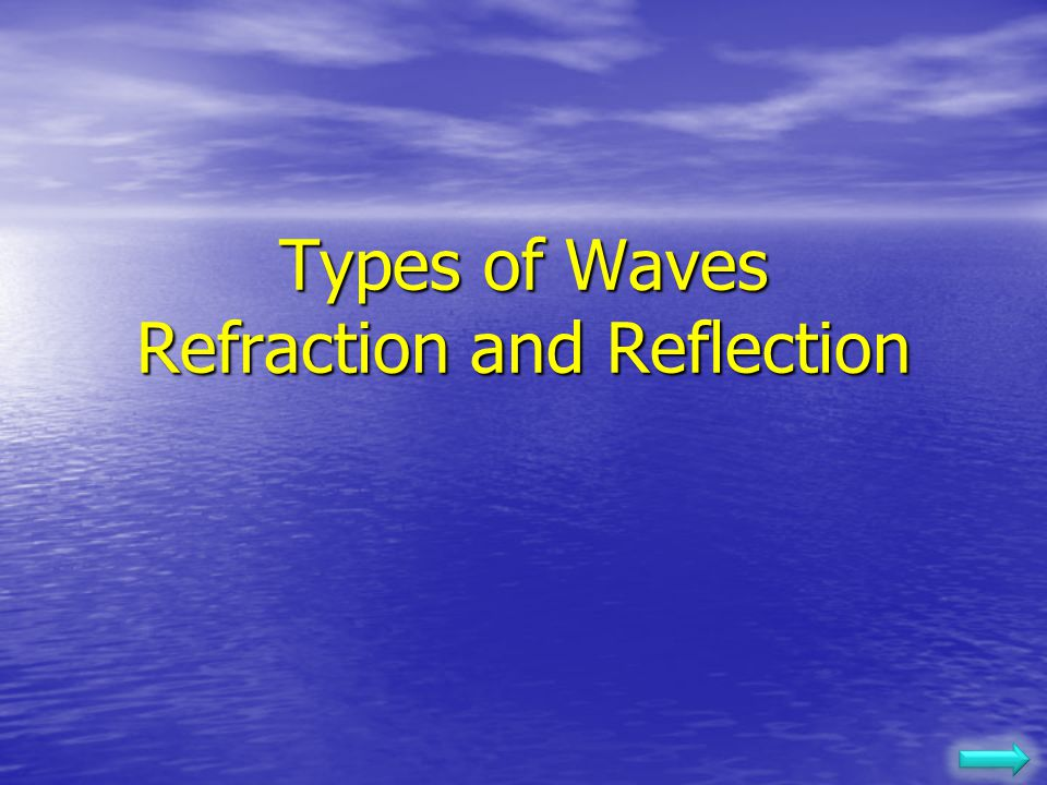 Types of Waves Refraction and Reflection
