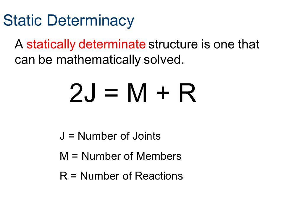2J = M + R Static Determinacy