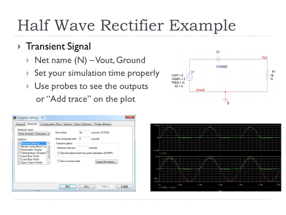 Half Wave Rectifier Example