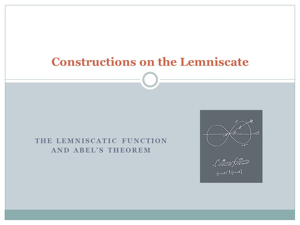 Constructions on the Lemniscate