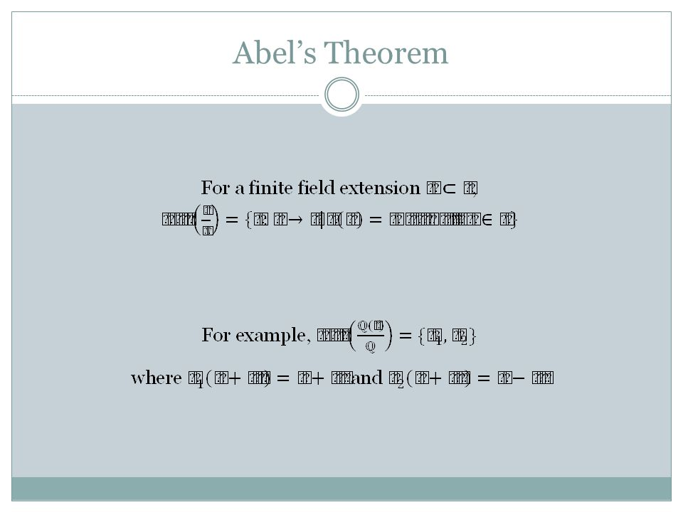 Abel's Theorem