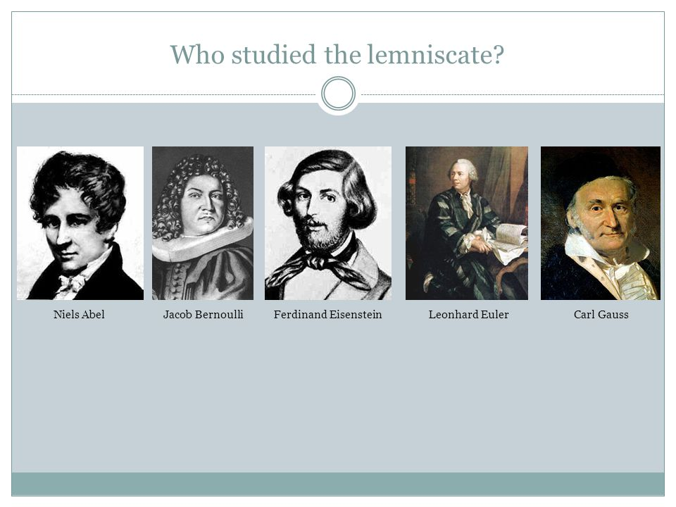 Who studied the lemniscate