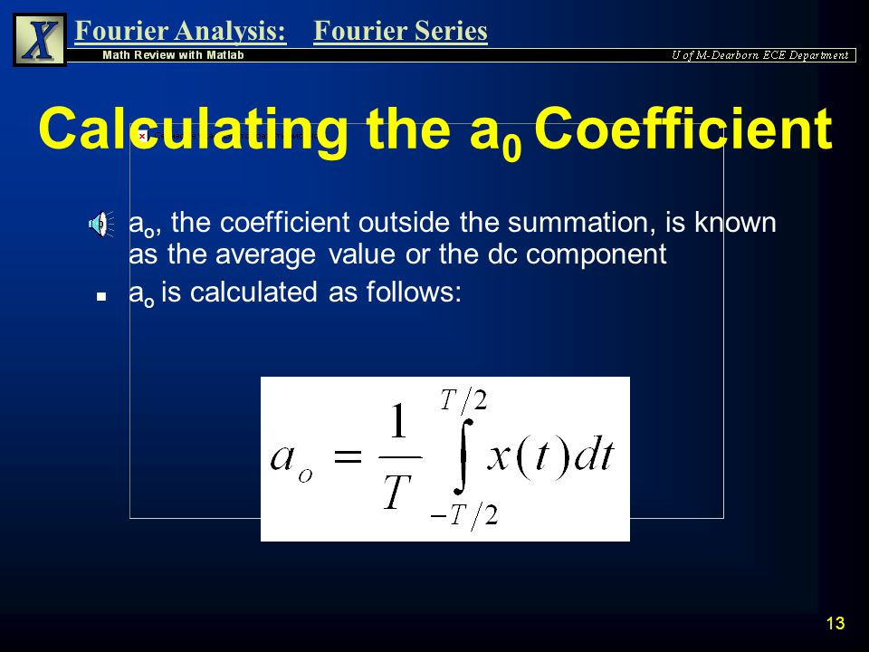 Calculating the a0 Coefficient