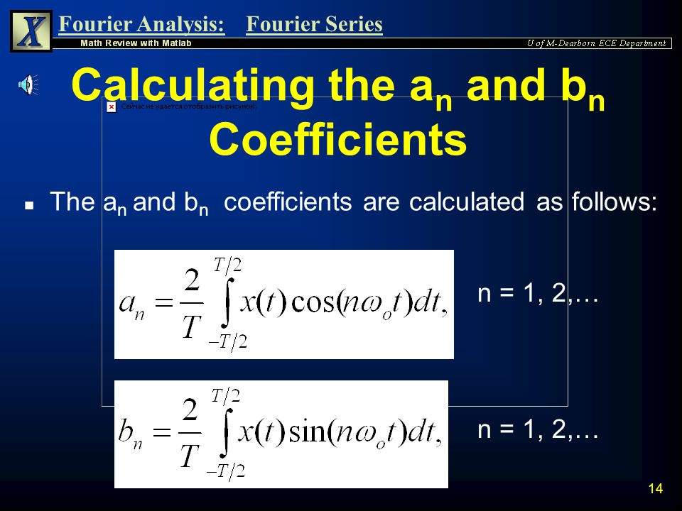 Calculating the an and bn Coefficients