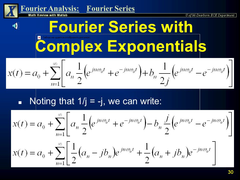 Fourier Series with Complex Exponentials
