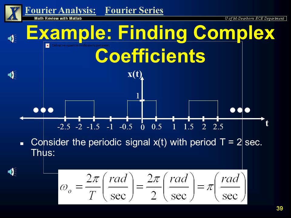 Example: Finding Complex Coefficients
