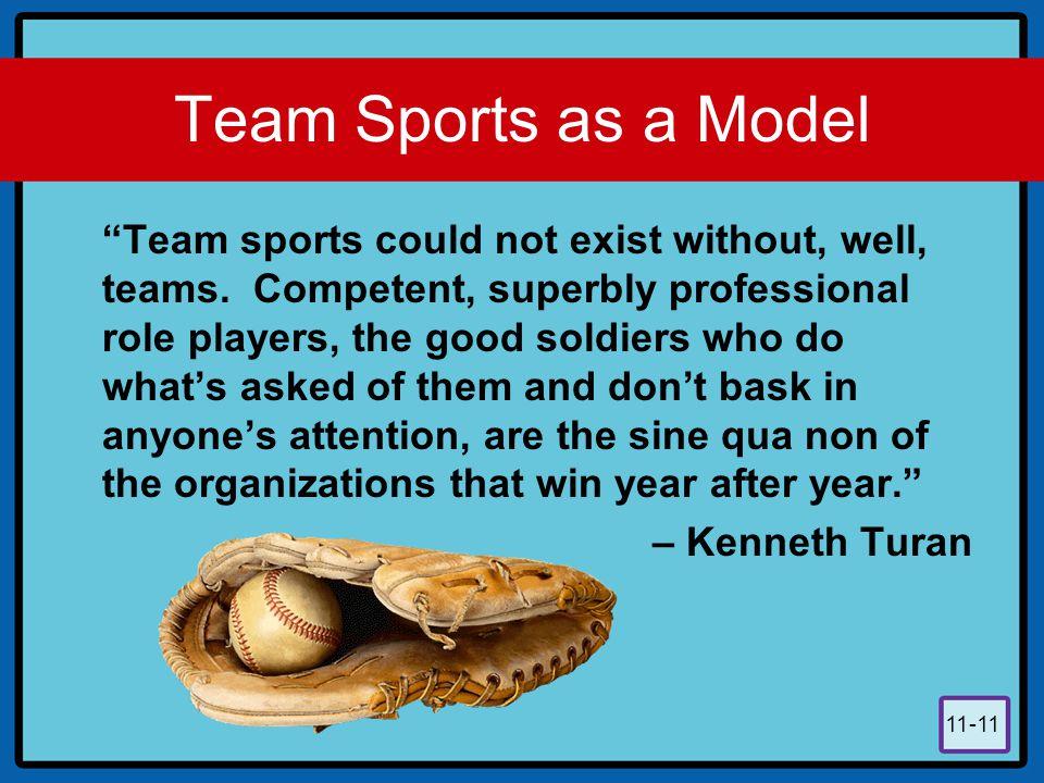 Team Sports as a Model