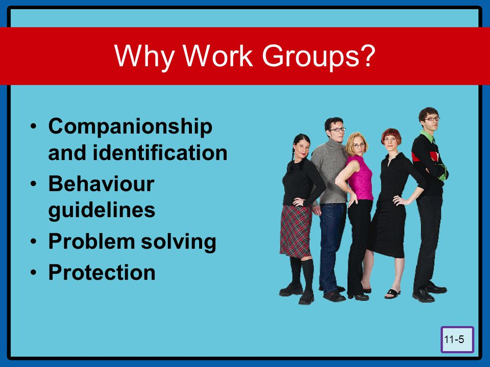 Why Work Groups Companionship and identification Behaviour guidelines