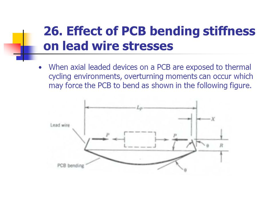 26. Effect of PCB bending stiffness on lead wire stresses