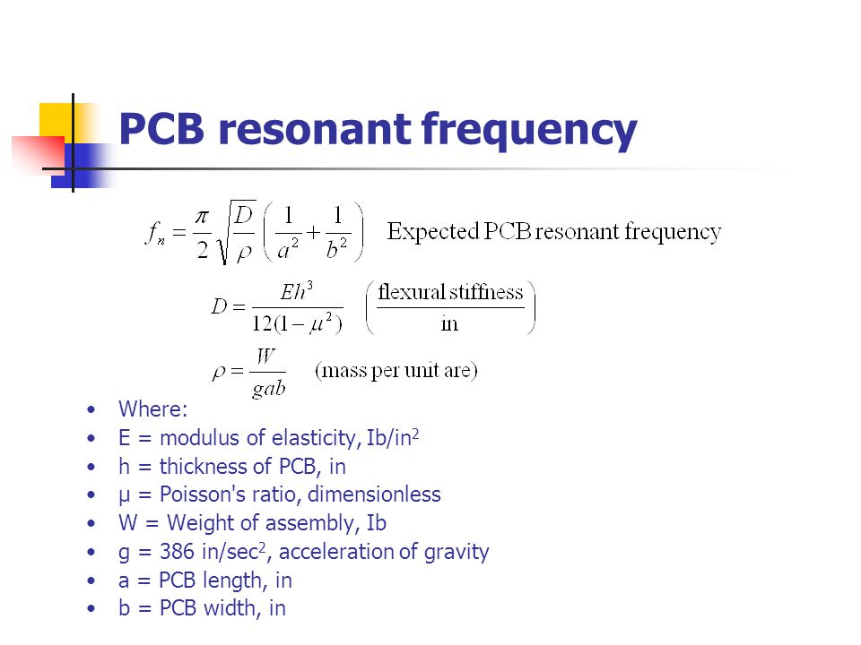PCB resonant frequency