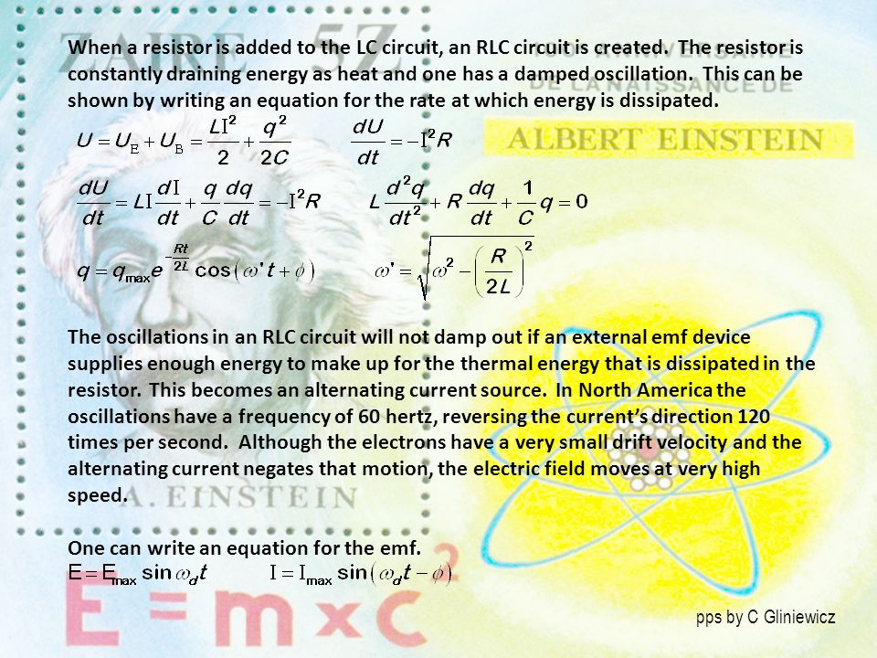 One can write an equation for the emf.