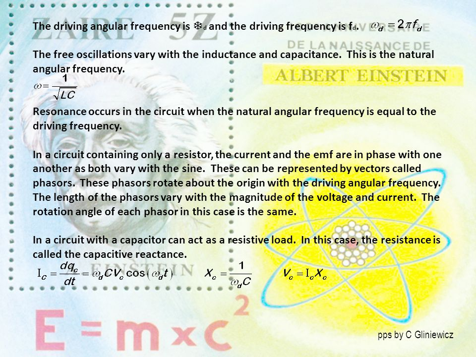 The driving angular frequency is d and the driving frequency is fd.