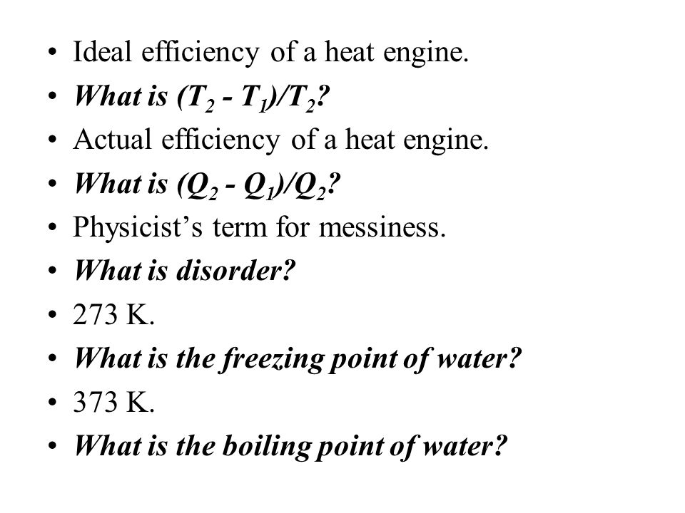 Ideal efficiency of a heat engine.