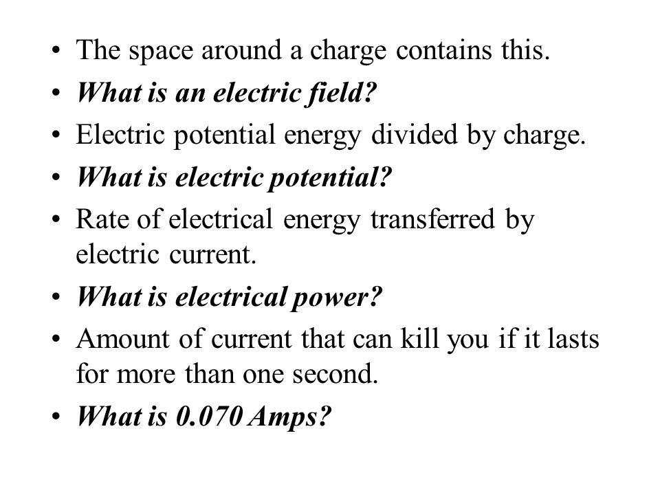 The space around a charge contains this.