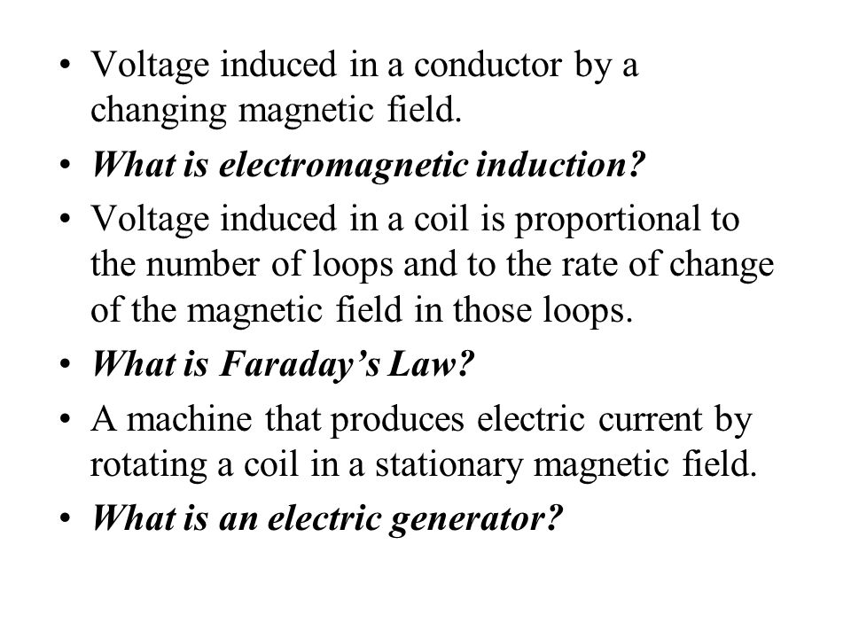 Voltage induced in a conductor by a changing magnetic field.