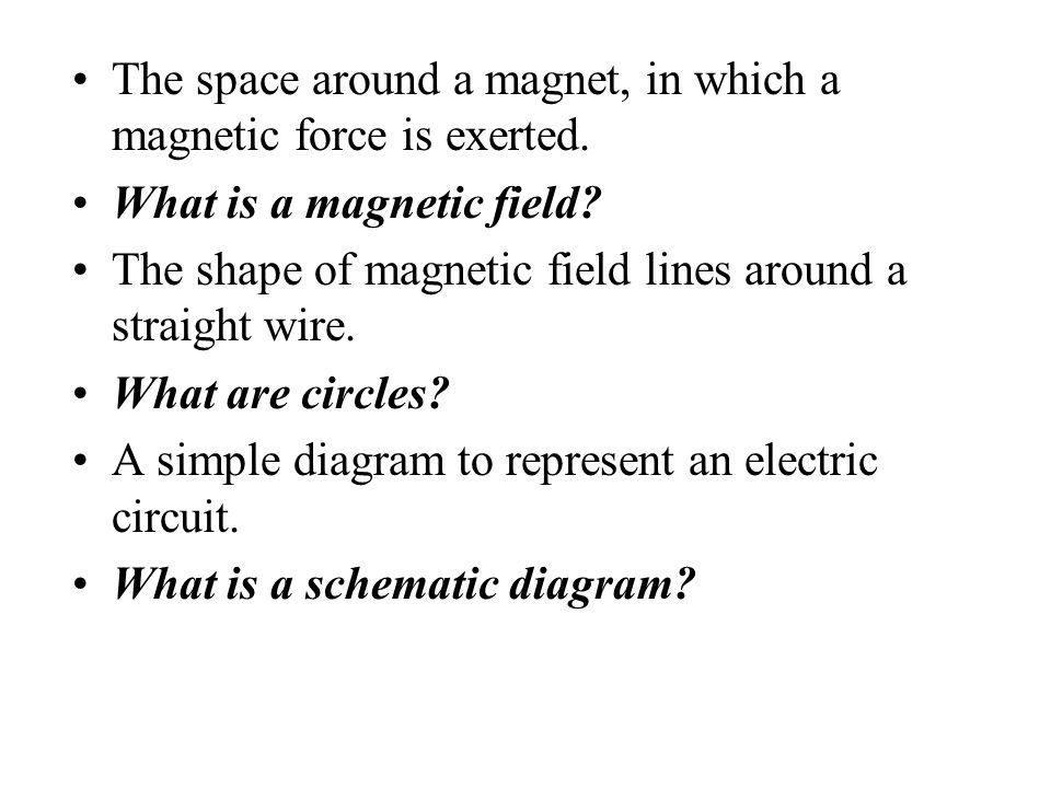 The space around a magnet, in which a magnetic force is exerted.