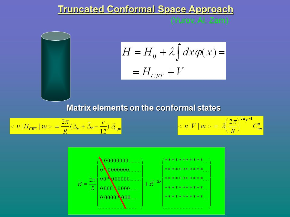 Truncated Conformal Space Approach