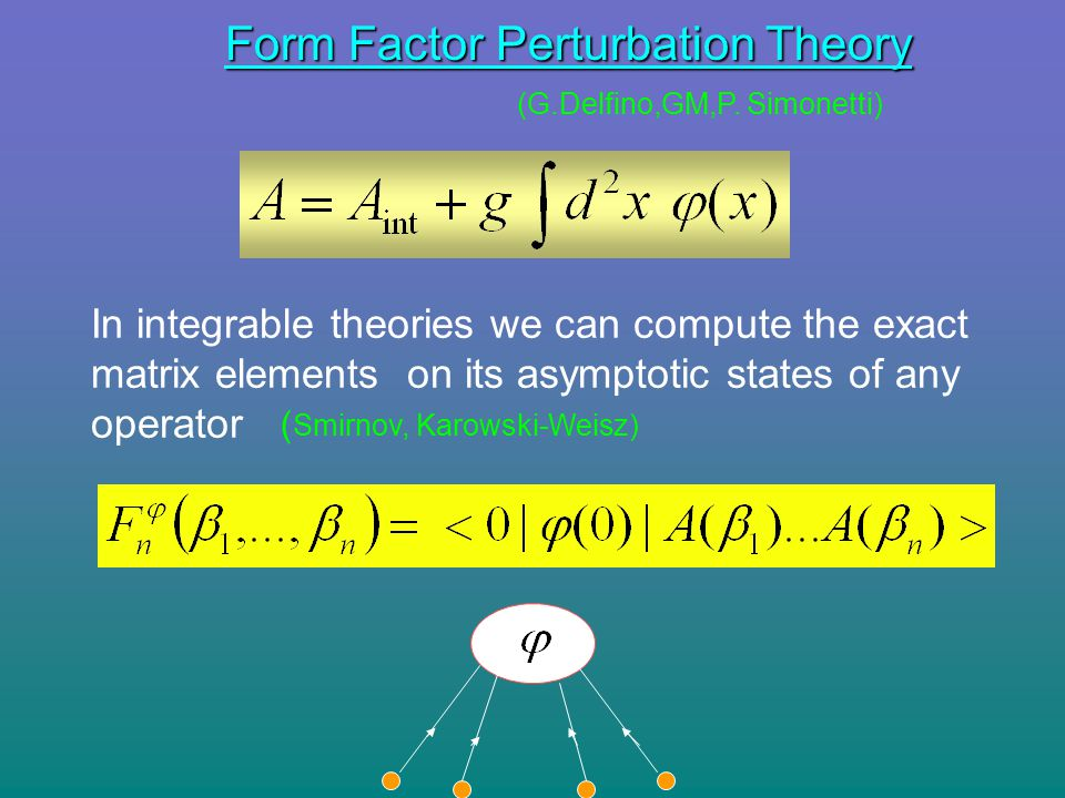Form Factor Perturbation Theory