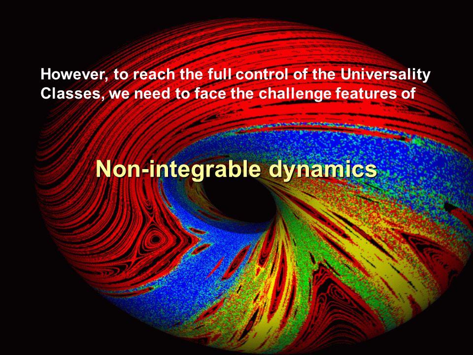 Non-integrable dynamics