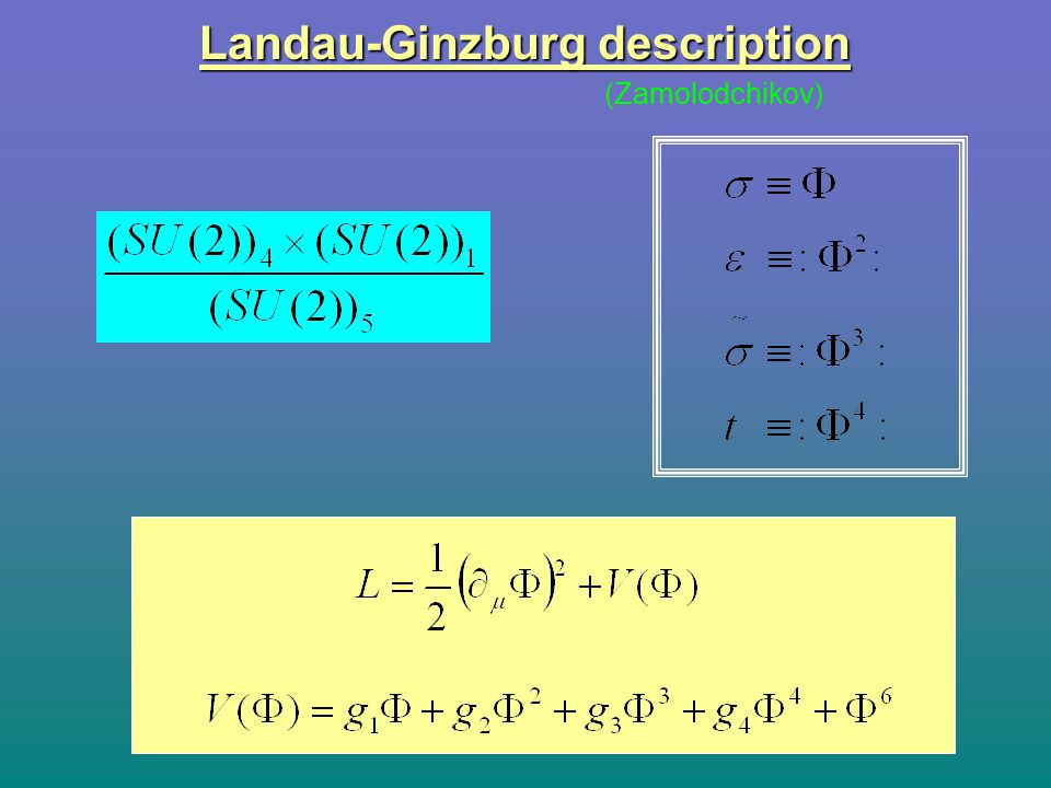 Landau-Ginzburg description