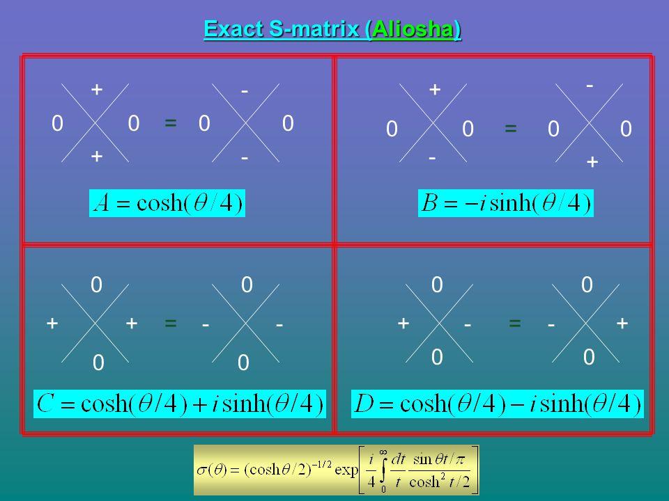 Exact S-matrix (Aliosha)