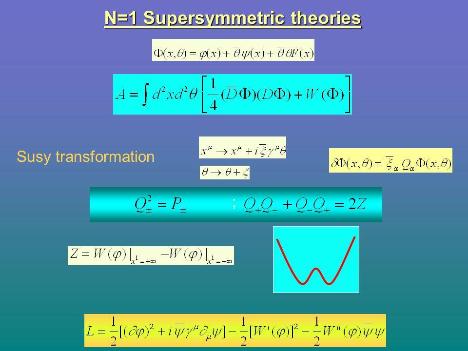 N=1 Supersymmetric theories