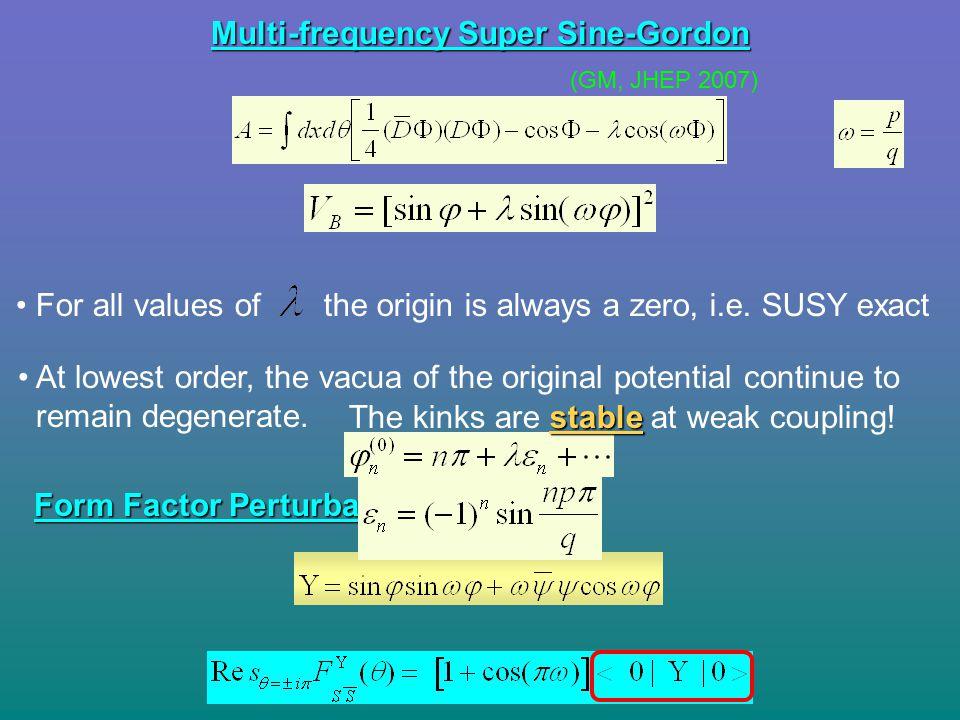 Multi-frequency Super Sine-Gordon