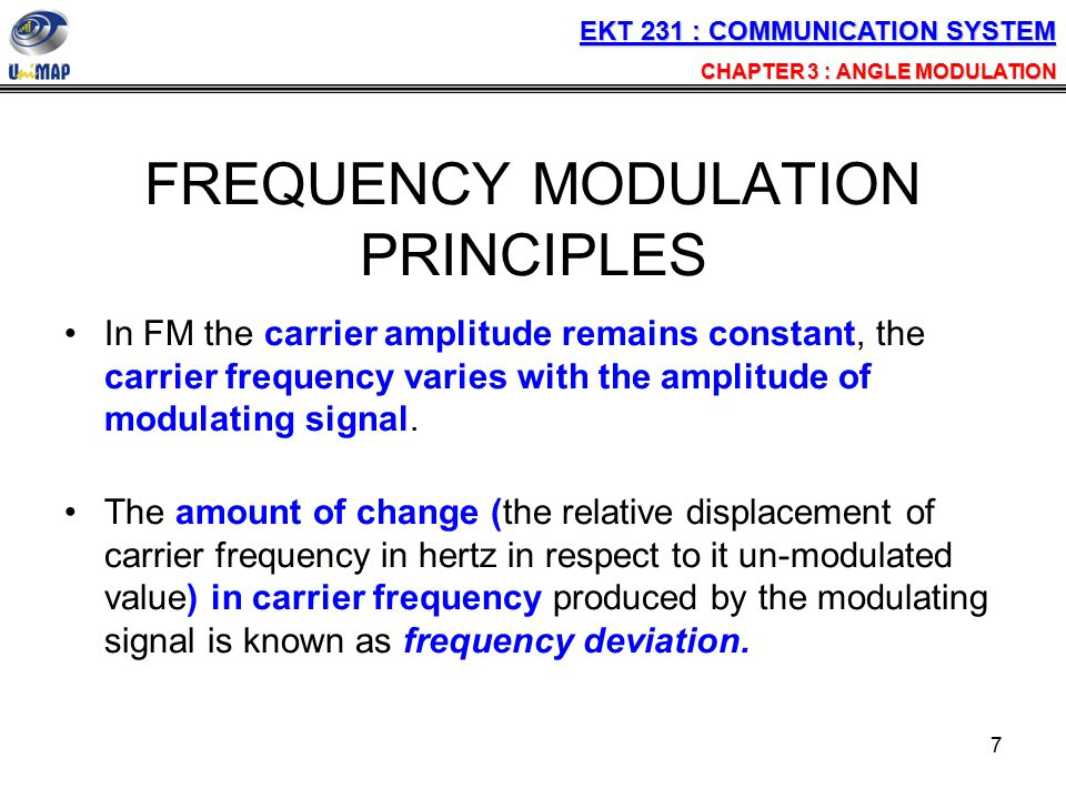 FREQUENCY MODULATION PRINCIPLES